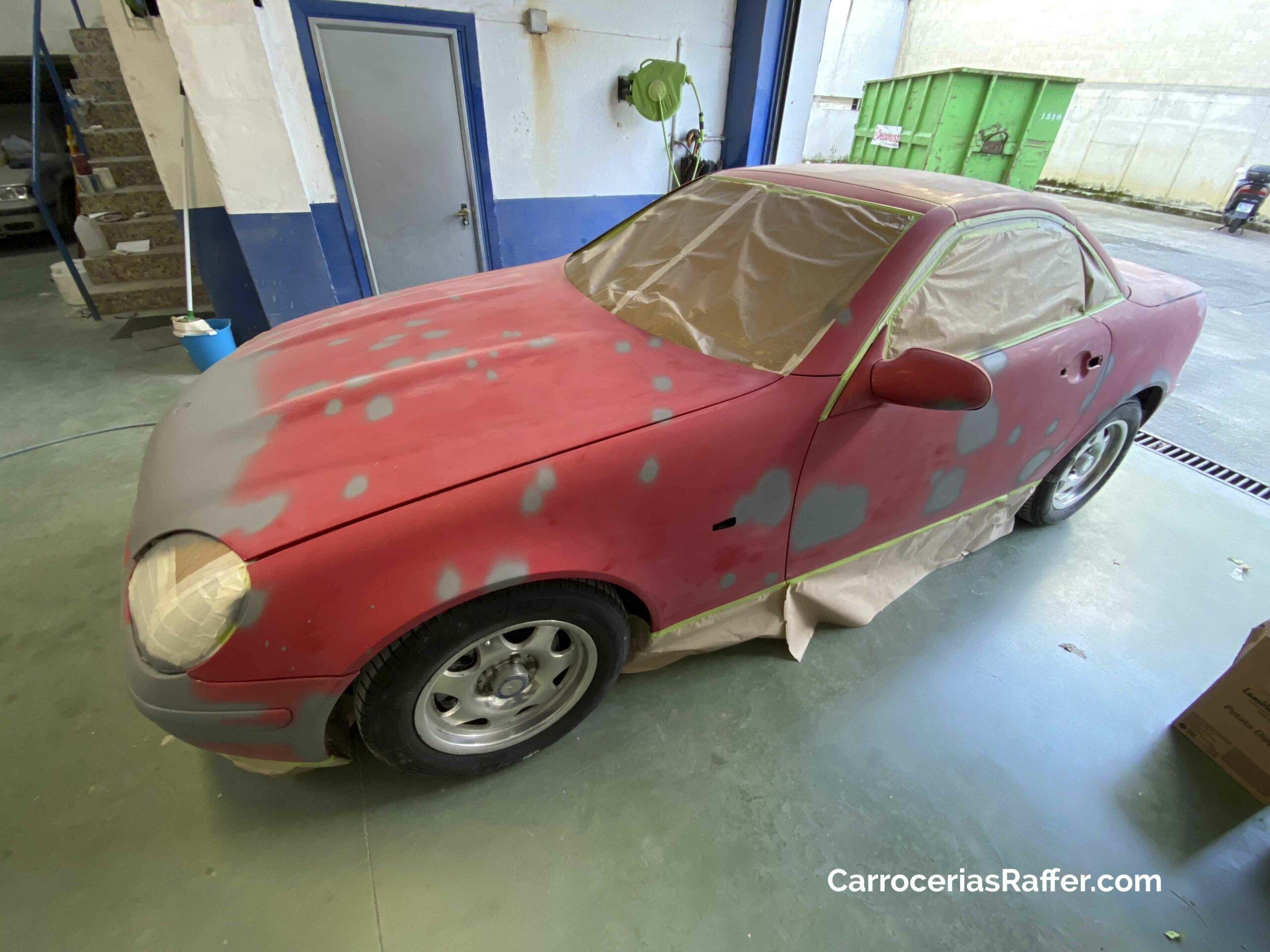 1 carrocerias raffer hernani donostia gipuzkoa taller de chapa y pintura mercedes benz slk