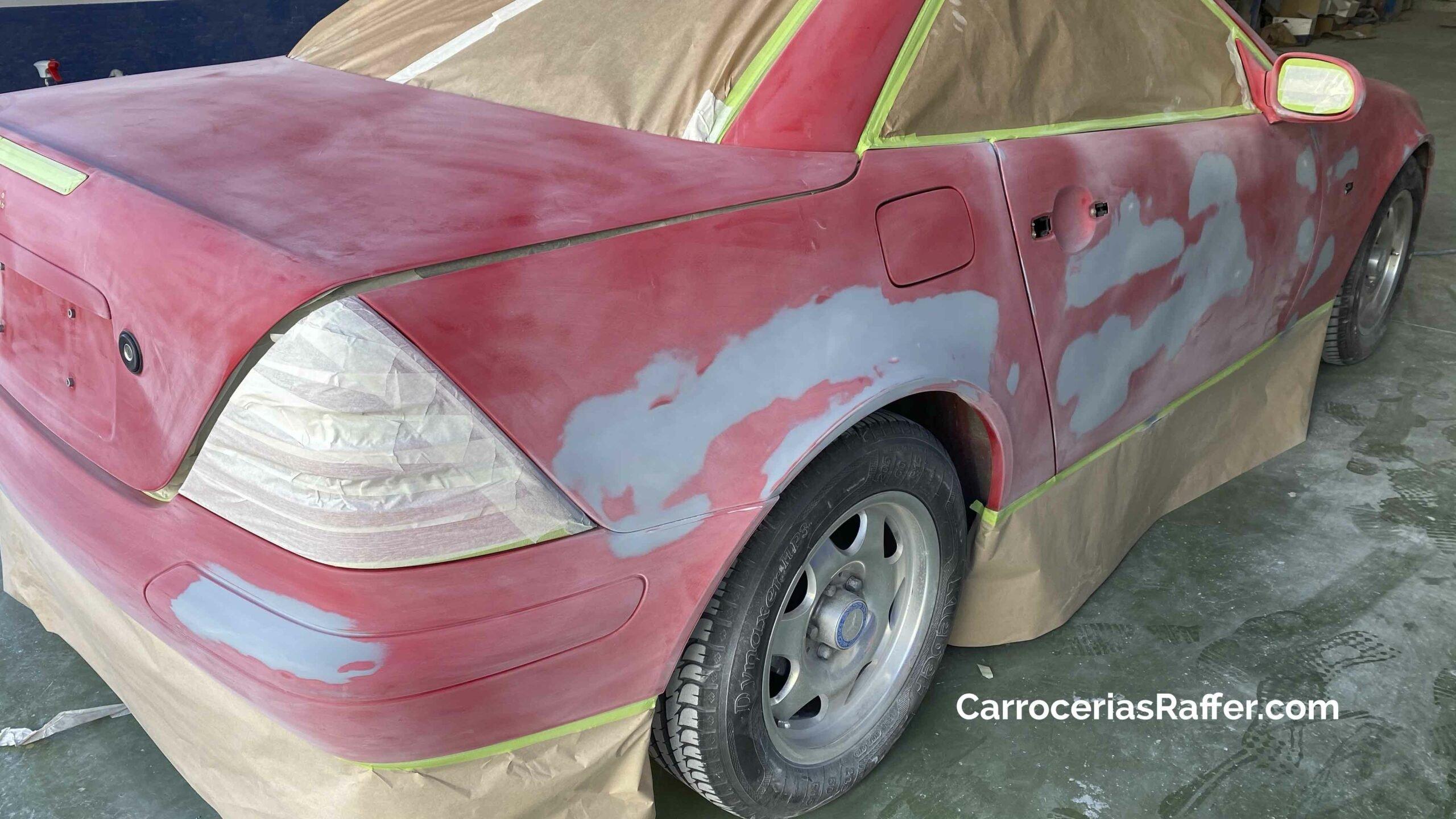 2 carrocerias raffer hernani donostia gipuzkoa taller de chapa y pintura mercedes benz slk